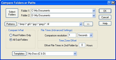Compare Folders, Patha and Files